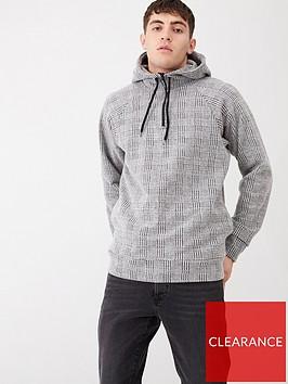 river-island-light-grey-slim-fit-check-hoodie
