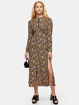 topshop-printed-piped-midi-dress-multi