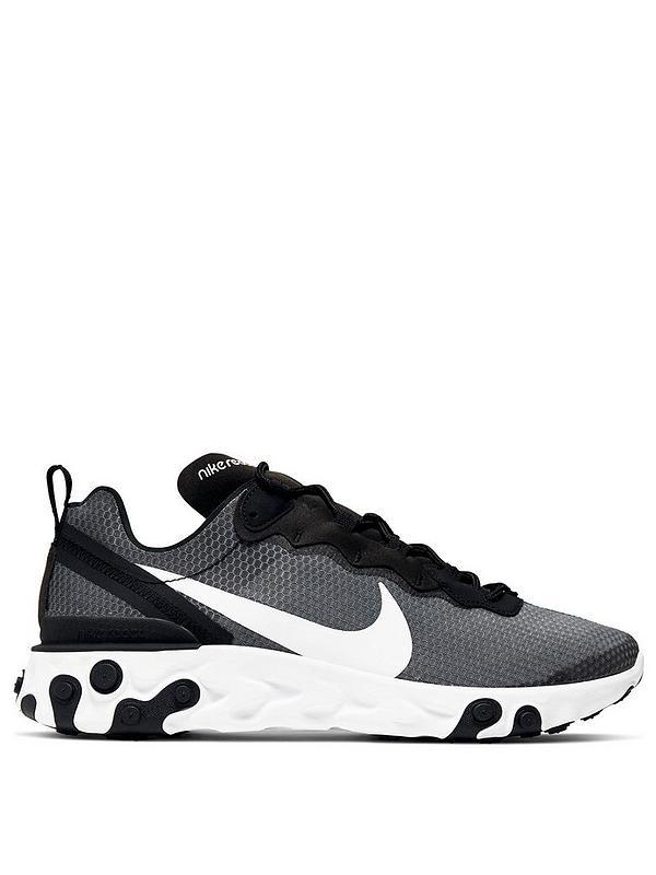 Interactuar bosque segmento  Nike React Element 55 SE - Grey/White/Black | very.co.uk
