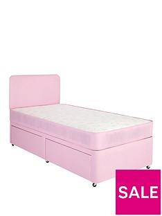 airsprung-megan-kidsnbspstorage-divannbspwith-mattress-andnbspheadboard-pink