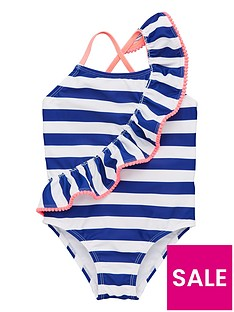 v-by-very-girls-striped-ruffle-detail-swimsuit-navy