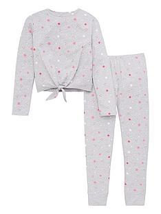 v-by-very-girls-knot-front-star-pyjamas-print