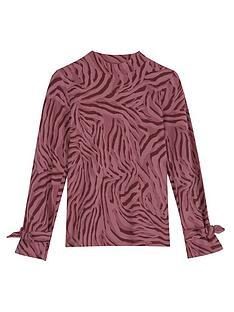 mintie-by-mint-velvet-girls-zebra-print-jersey-top-red