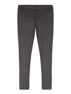 mintie-by-mint-velvet-girls-animal-print-wet-look-leggings-black