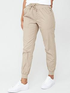 v-by-very-knit-trim-poplin-jogger-stone