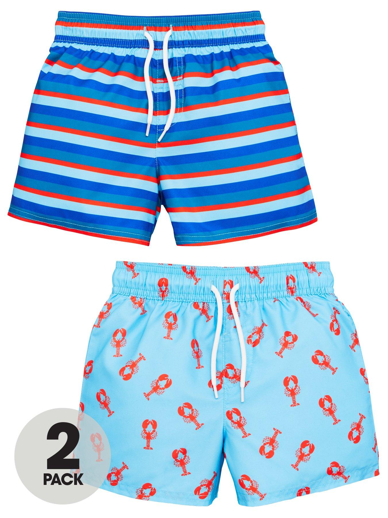 6-9 Months Baby Boys 2 Pack Responsibly Sourced Cotton Shorts Blue /& Orange