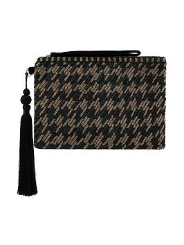 monsoon-hetty-houndstooth-embellished-clutch-black