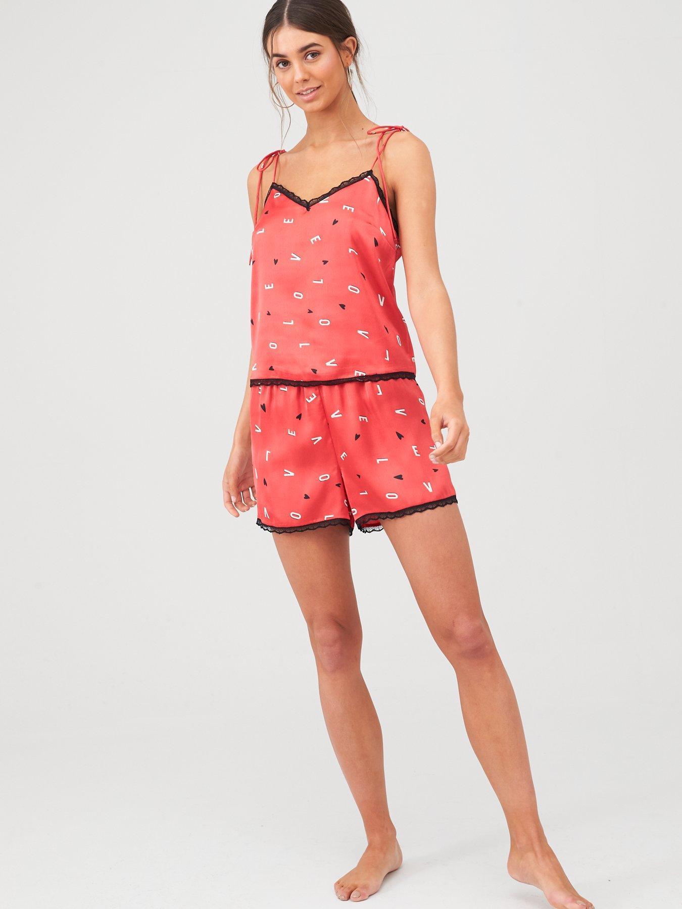 New Ann Summers Screw it Lets Do it Pyjamas Set Shorts /& T Shirt M 12 14 L16 18
