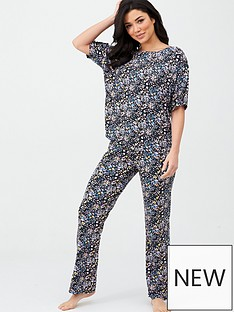 v-by-very-floral-tee-and-trouser-pj-set-multi