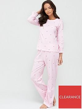 v-by-very-elasticated-cuff-twosie-pyjama-set-pink-spotnbsp