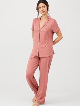 v-by-very-short-sleeve-jersey-revere-pyjamas-rose