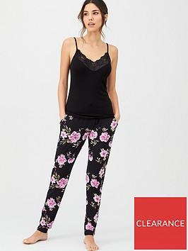 v-by-very-floral-trouser-pyjamas-black-floral