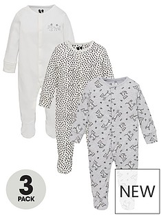 v-by-very-baby-unisex-3-pack-long-sleeve-tiger-sleepsuits