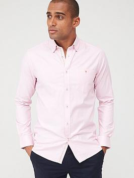 ted-baker-long-sleeved-oxford-shirt-pink