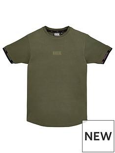 rascal-children-irridescent-tape-short-sleeve-t-shirt-khaki