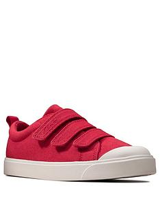 clarks-childrensnbspcity-vibe-canvas-shoe-red