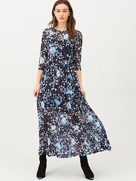 v-by-very-mesh-floral-midi-dress-blue-floral