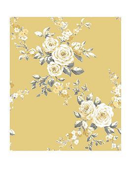 catherine-lansfield-canterbury-floral-wallpaper-ndash-ochre