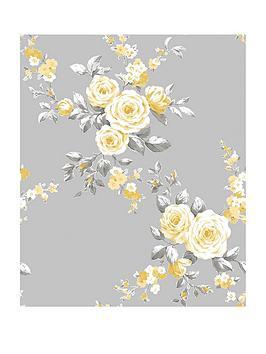 catherine-lansfield-canterbury-floral-wallpaper-ndash-grey-ochre