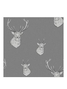 catherine-lansfield-stag-wallpaper