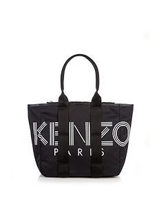kenzo-nylon-shopper-tote-bag-black