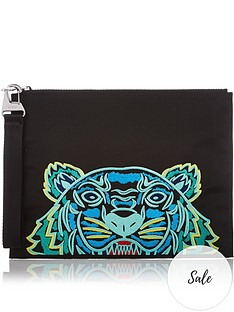 kenzo-a4-tiger-canvas-pouch-bag-black