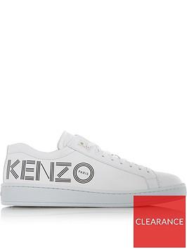 kenzo-logo-print-plimsolls-white