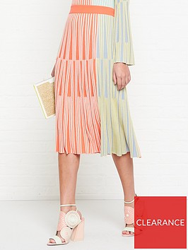 kenzo-colour-block-midi-skirt-multi