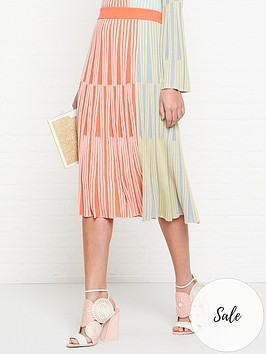 kenzo-colour-block-midi-skirt-multi