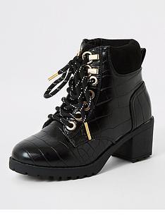river-island-girls-croc-lace-up-hiking-boots-black