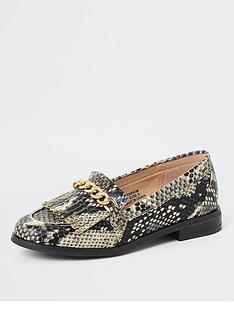 river-island-girls-snake-print-chain-loafers-multi