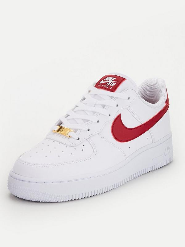 Nike Air Force 1 '07 - White/Red | very.co.uk
