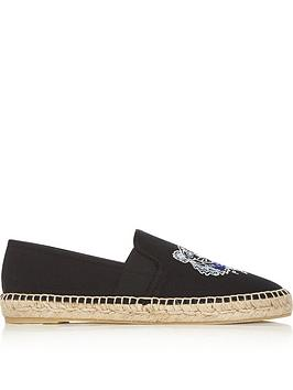 kenzo-tiger-head-elasticated-canvas-espadrilles-black