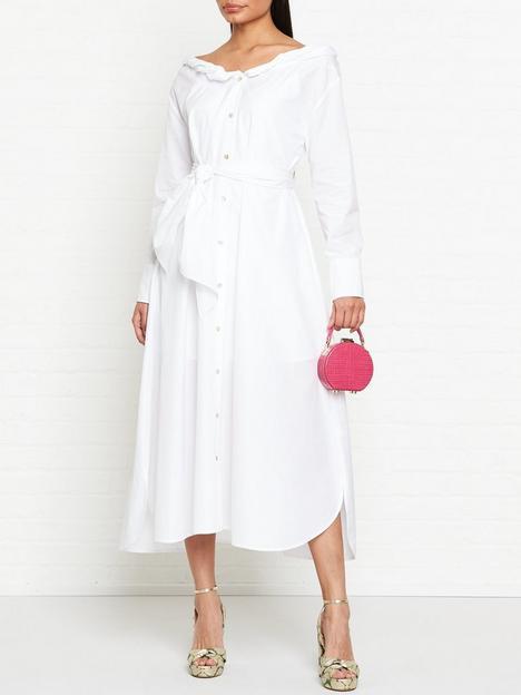 kenzo-collar-roll-up-long-dress-white