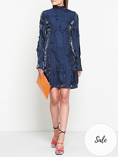 kenzo-mini-wave-dress-blue