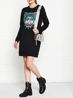 kenzo-classic-tiger-sweatshirt-dress-black