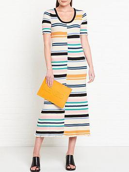 kenzo-bodycon-stripes-dress-multi