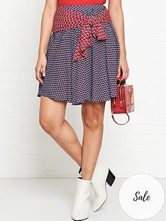 kenzo-belted-short-skirt-blue