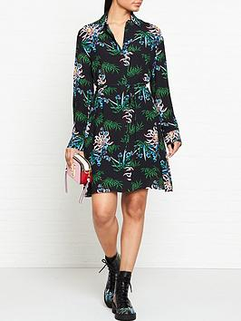 kenzo-feminine-shirting-dress-black