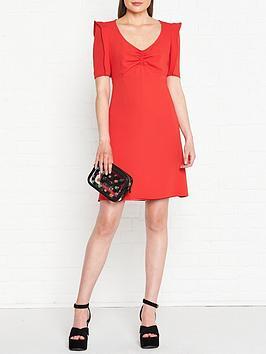 kenzo-japanese-sleeve-shift-dress-red