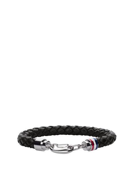 tommy-hilfiger-clasp-detail-leather-bracelet