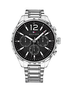 tommy-hilfiger-tommy-hilfiger-black-and-silver-detail-chronograph-dial-stainless-steel-bracelet-mens-watch