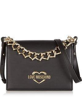 love-moschino-top-handle-chain-cross-body-bag-black