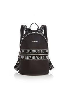 love-moschino-logo-nylon-backpack-black