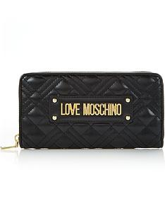 love-moschino-quilted-continental-purse-black