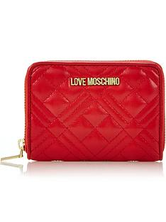 love-moschino-quilted-small-zip-around-purse-red