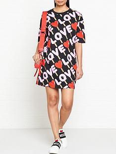 love-moschino-all-over-print-t-shirt-dress-multicolour
