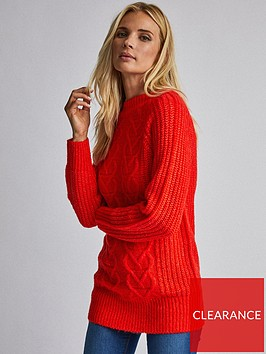 dorothy-perkins-dorothy-perkins-cable-knit-tunic-red