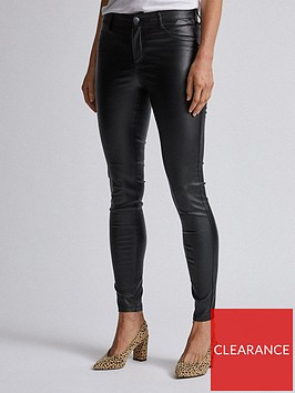 dorothy-perkins-dorothy-perkins-coated-frankie-jeans-black