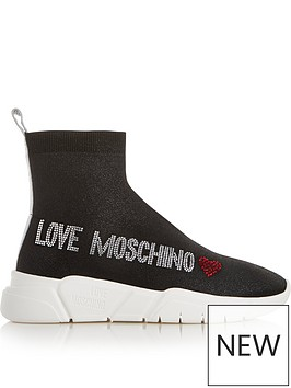love-moschino-knitted-logo-trainers-black